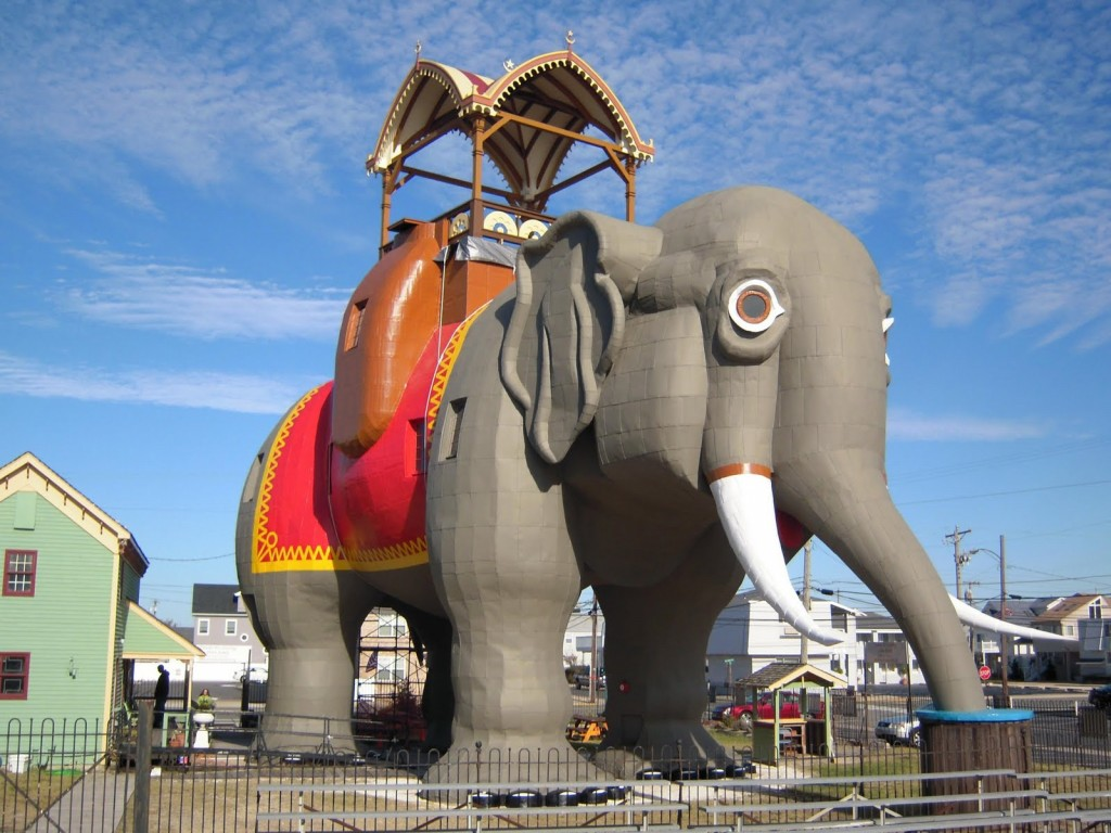 You can climb inside Lucy the Elephant.