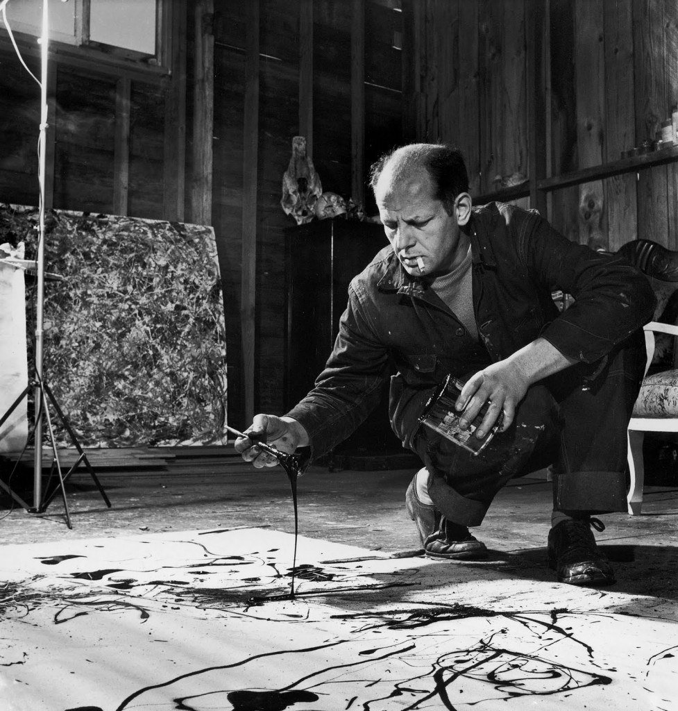 Jackson Pollock (photo by Martha Holmes)