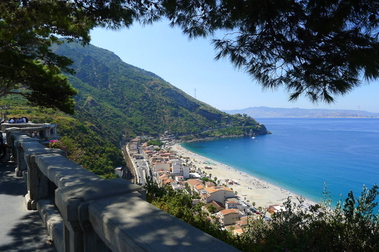 Scilla, Calabria, with the Straits and Sicily beyond.