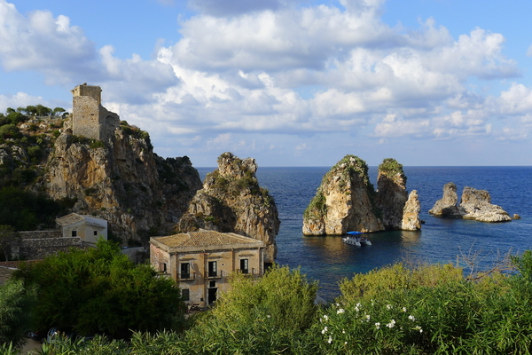 The old tonnara (tuna fishery) at Scopello.