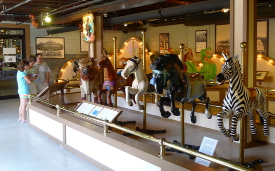 The Herschell Carousel Museum houses the Mary W. Lockman Collection of hand-carved carousel animals.