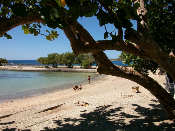 A secluded beach west of Santiago de Cuba