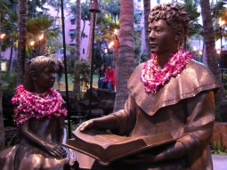 Learning about Hawaiian culture in Waikiki
