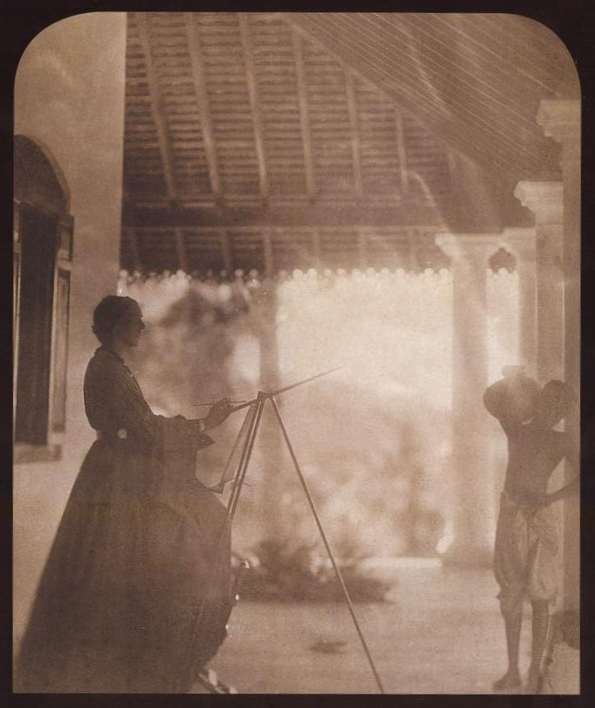 Photograph of Marianne North by Julia Margaret CameronCropped