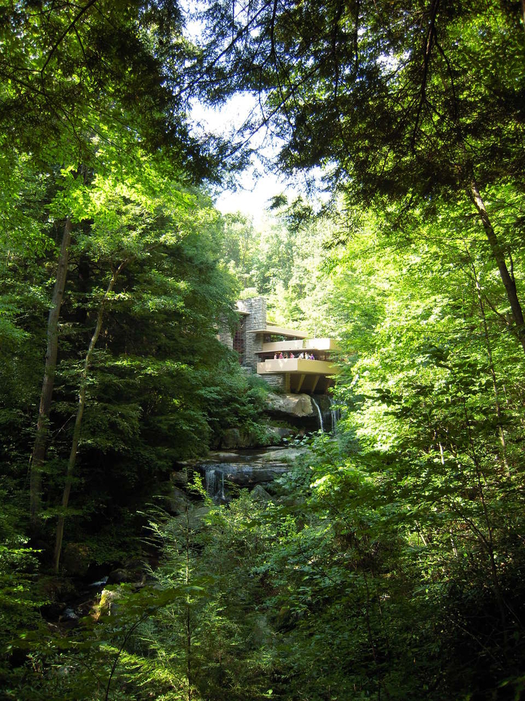 Fallingwater vertical view
