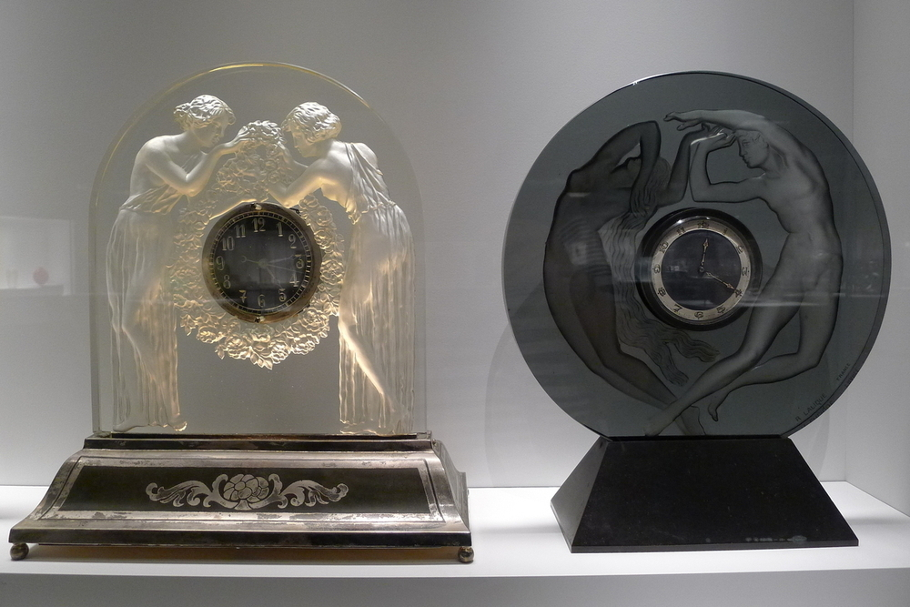 Lalique Glass Clocks