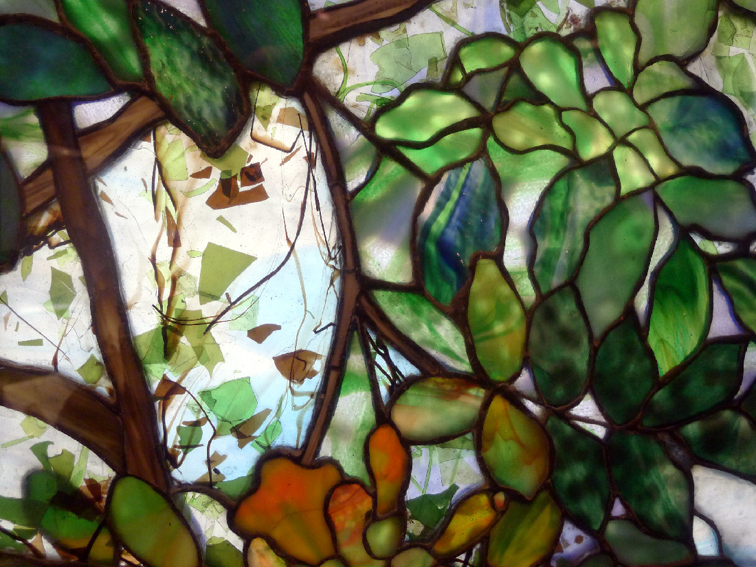 Tiffany window detail