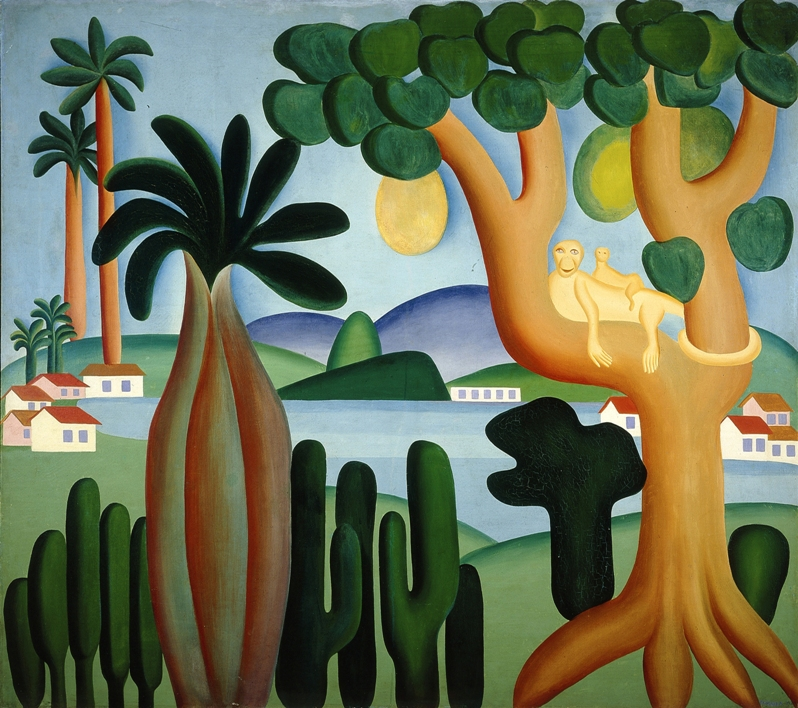 Tarsila do Amaral painting Postcard Brazil