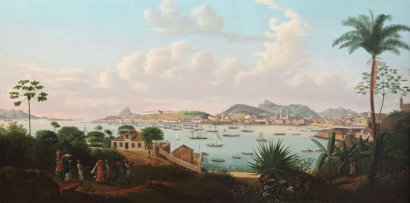 Taunay Baia de Guanabara painting Brazil