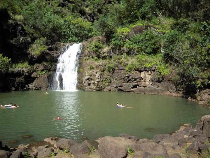 Waimea waterfall Oahu